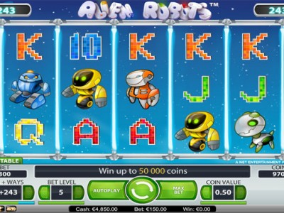 alien robots slot review