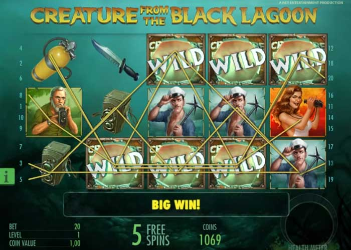 creature from the black lagoon big win