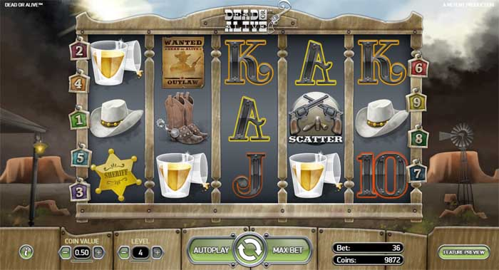 dead or alive slot from netent