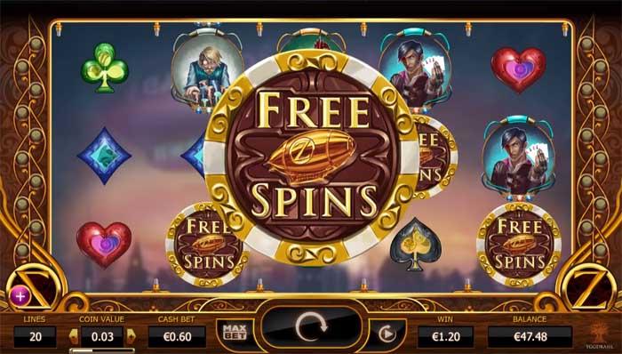 cazino zeppelin free spins bonus