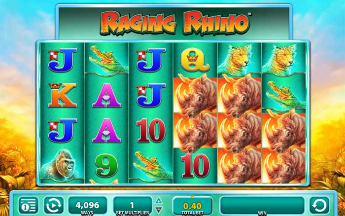 raging rhino online slot from wms