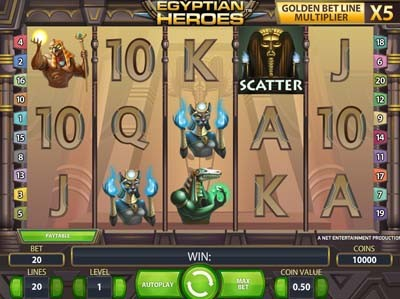 egyptian heroes slot review