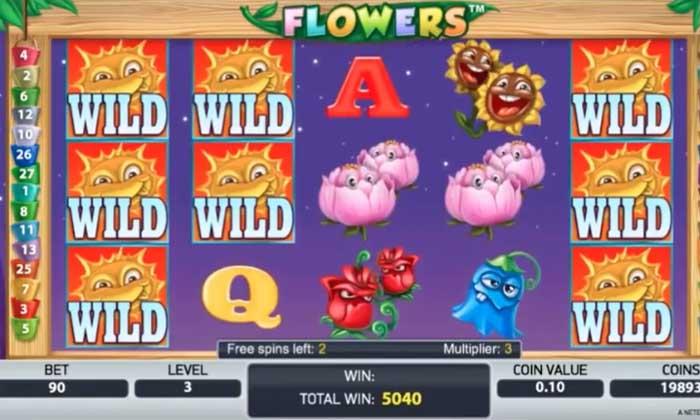 flowers slot big win