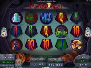 haunted night online slot machine