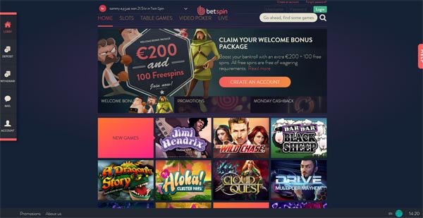 betspin casino review