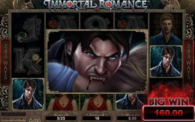 immortal romance slot big win