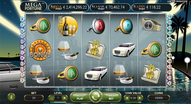 mega fortune jackpot slot machine