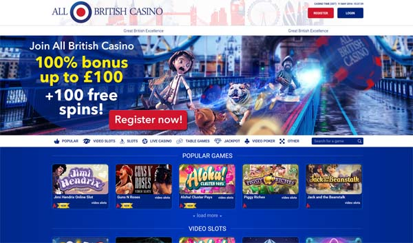 all british casino review screenshot