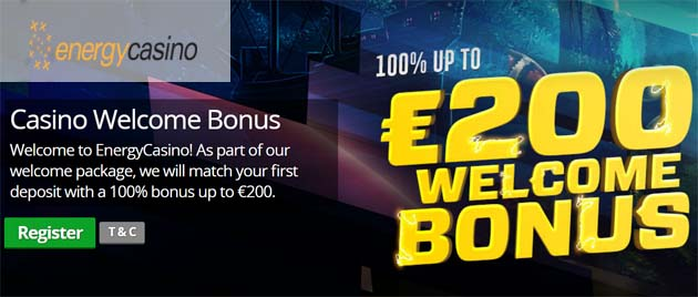 energy casino welcome bonus