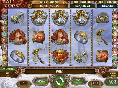 hall of gods slot review