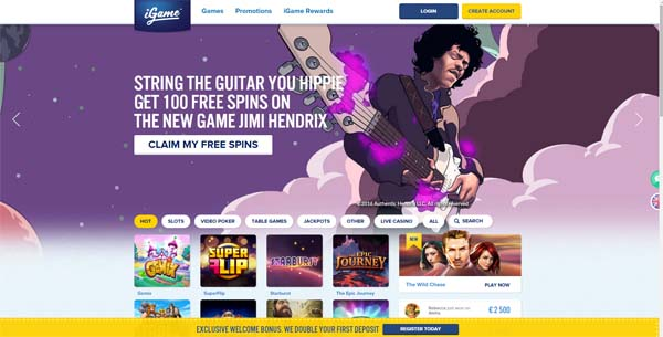igame casino review screenshot