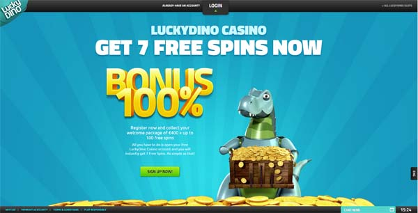 lucky dino casino review screenshot