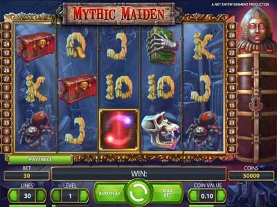 mythic maiden online slots review