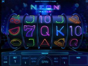 neon reels jackpot slot