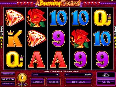 burning desire slot reviewed