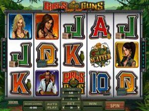 girls with guns jungle microgaming slot screenshot