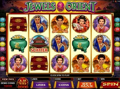 jewels of the orient microgaming slot