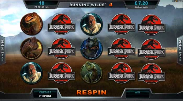 jurassic park slot big win