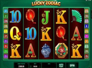 lucky zodiac slot screenshot