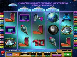 cosmic invaders slot machine