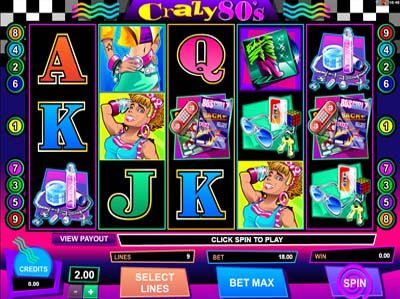 crazy 80s microgaming slot