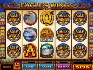 eagles wings microgaming slot