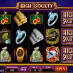 high society microgaming online slot screenshot of gameplay