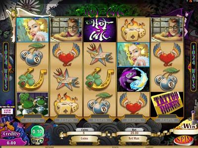 hot ink high rtp microgaming slot machine