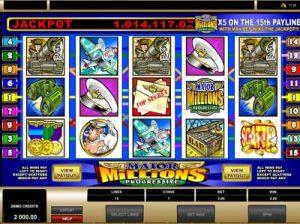 major millions jackpot slot from microgaming