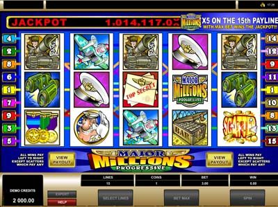 major millions jackpot slot from microgaming