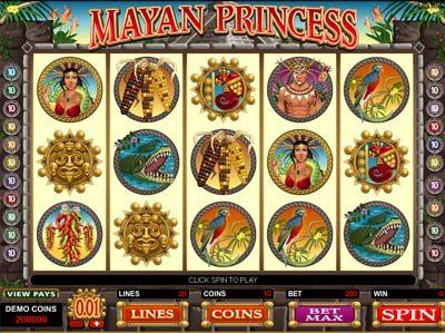 mayan princess microgaming slots