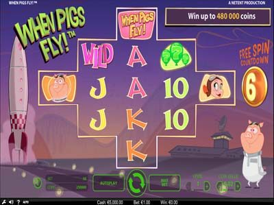 when pigs fly slot from netent screenshot review