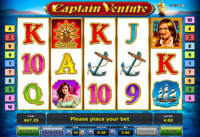 captain venture slot review
