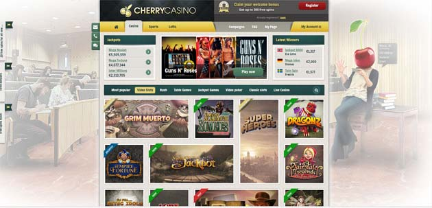 cherry casino game selection