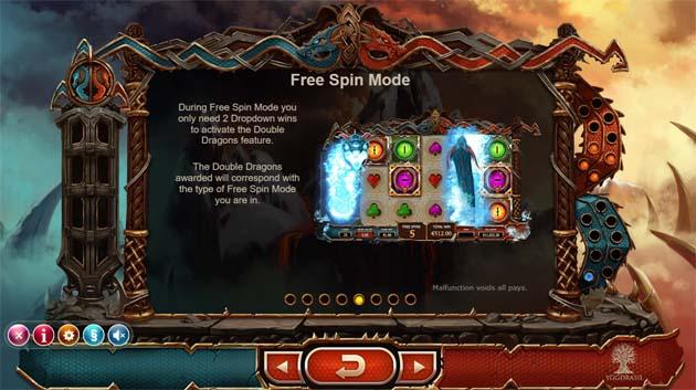 double dragons free spin bonus