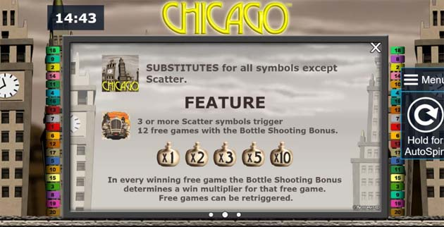 chicago slot bonus feature
