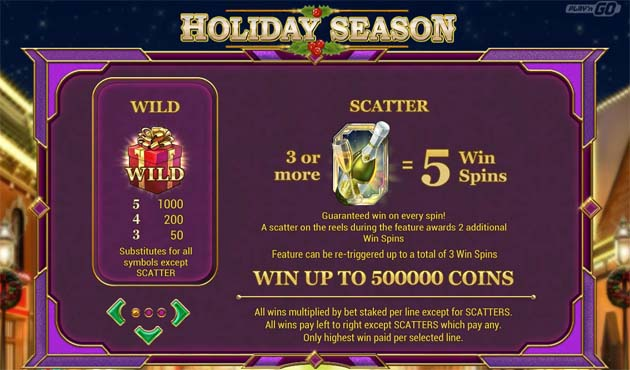 holiday season slot bonus feature