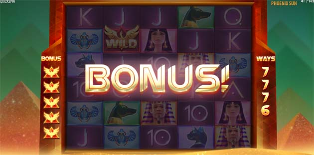 phoenix sun slot bonus free spins feature screenshot