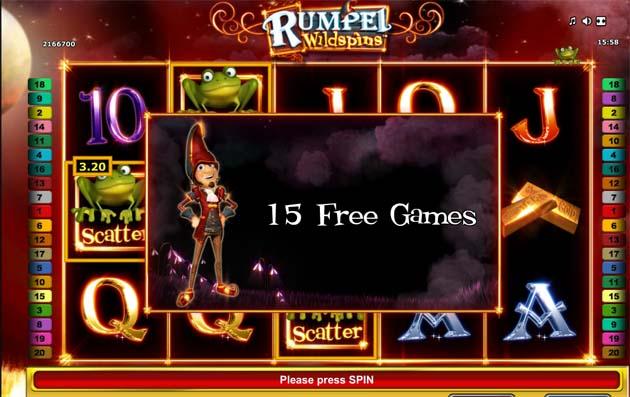 rumpel wildspins free spins