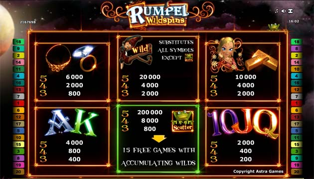 sticky wilds rumpel wildspins slot