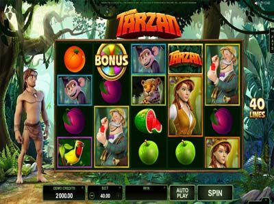 tarzan microgaming slot review