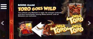 wild toro bonus game