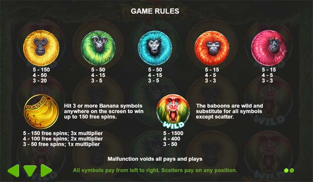 7 monkeys slot game rules