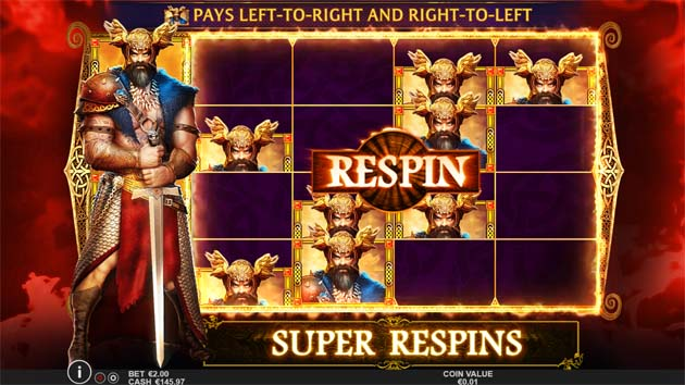 beowulf slot bonus feature