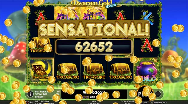 dwarven gold deluxe online slot big win