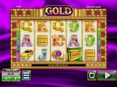gold by big time gaming slot review