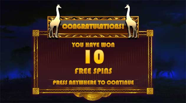 hot safari slot freespins