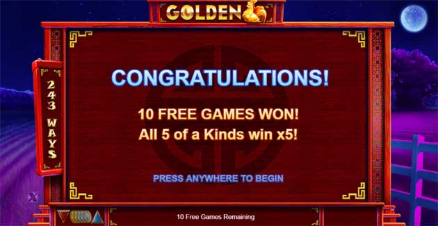 golden free spins bonus explained