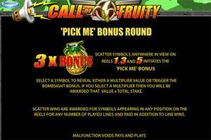 call of fruity pick me slot bonus