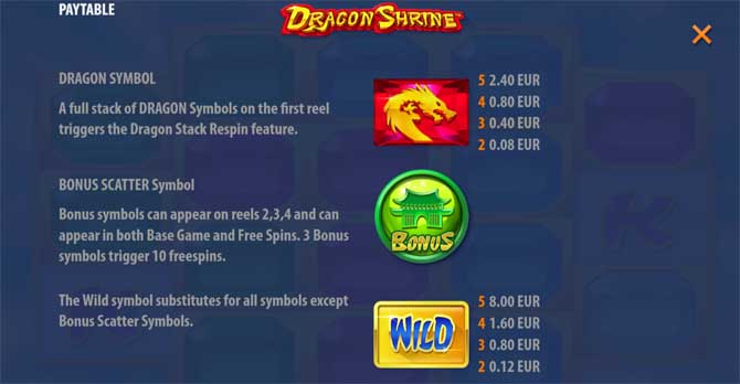 dragon shrine online slot machine
